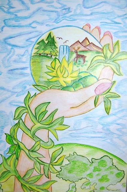 Зелёная россия рисунки на конкурс